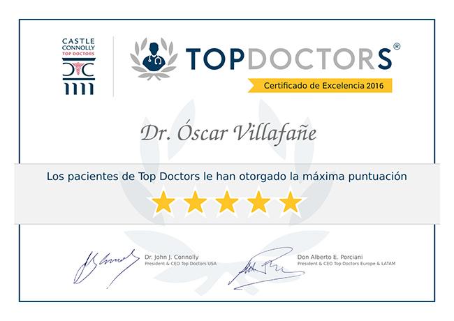 Certificado de Excelencia TopDoctors